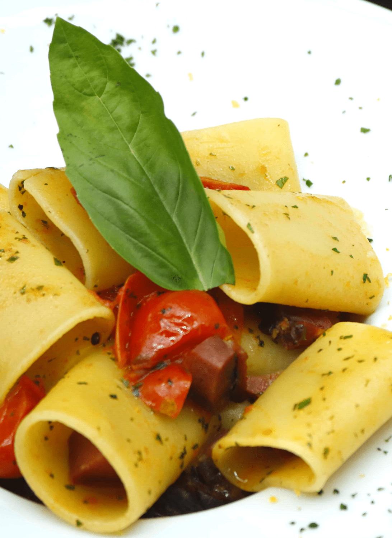 Paccheri Vicolo Corto menù ristorante
